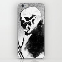 skeleton iPhone & iPod Skins featuring Skeleton by Jaaaiiro