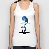 banksy Tank Tops featuring Tardis Stair banksy ballons Girl by neutrone