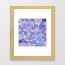 Pastel Pink and Blue Balls Framed Art Print