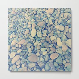Pebble Texture Metal Print