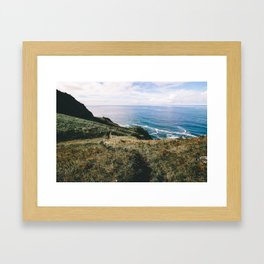 Seaside Bluffs    Oregon Coast Framed Art Print