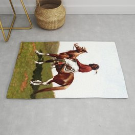 """Western Art """"Comanche Brave"""" by Frederic Remington Rug"""
