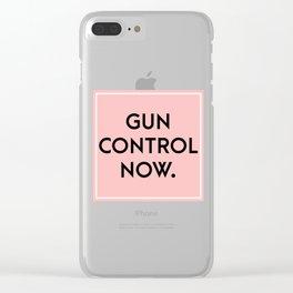 Gun control now Clear iPhone Case