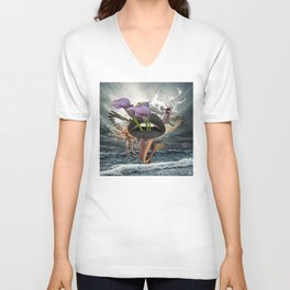 Behind and Beyond Unisex V-Neck