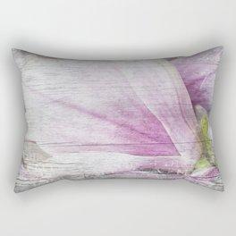 Magnolia Flower  on old wood Rectangular Pillow