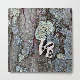 LOVE: TREE BARK Metal Print