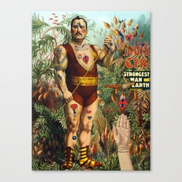 the strongest man of the world Canvas Print