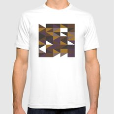 #508 Aztec revival – Geometry Daily Mens Fitted Tee White MEDIUM