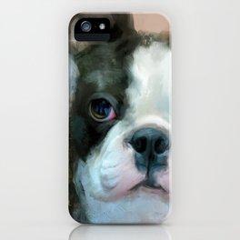 I Adore You Boston Terrier Art iPhone Case