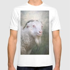 Old Goat! White MEDIUM Mens Fitted Tee