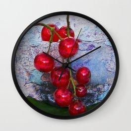 Currants textured2 Wall Clock