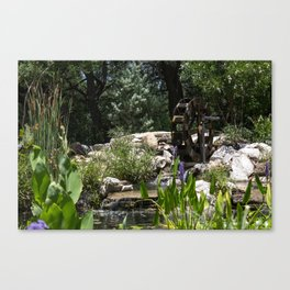 Waterwheel Garden Canvas Print