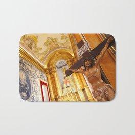 Jesus on the cross Bath Mat
