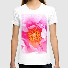 Peony Macro Illustration T-shirt
