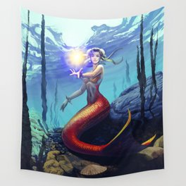 Mermaid Chun Li Wall Tapestry