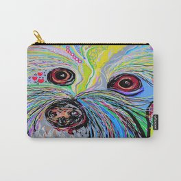 Bichon in Blue Tones Carry-All Pouch