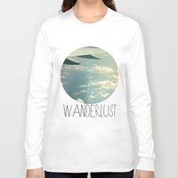 airplane Long Sleeve T-shirts featuring wanderlust airplane by shans