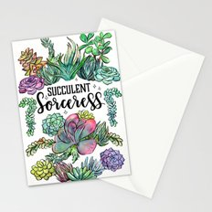 Succulent Sorceress Stationery Cards
