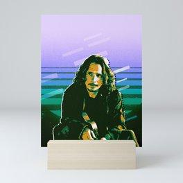 Chris Cornell retro Mini Art Print