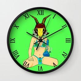 Baphomet, Bikini, Bong Wall Clock