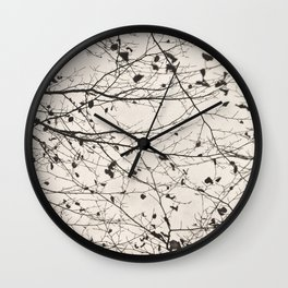 boughs pale Wall Clock