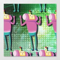 katamari Canvas Prints featuring Katamari Cousins - Macho by cakeisforrobots