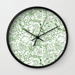School Chemical pattern #1 Wall Clock