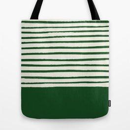 Holiday x Green Stripes Tote Bag