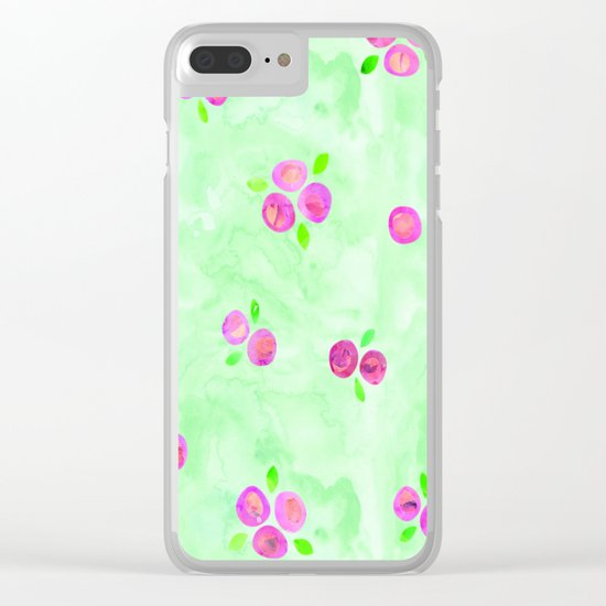 Roses Pattern 01 Clear iPhone Case