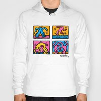 keith haring Hoodies featuring Keith Haring Pop Shop Quad by cvrcak