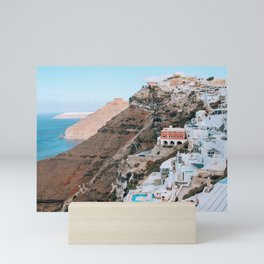 Whitewashed   Santorini, Greece Mini Art Print
