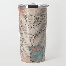 Coffee Dictionary Doodle Travel Mug