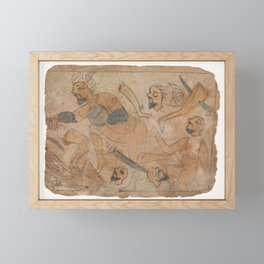 Battle Scene1 Framed Mini Art Print
