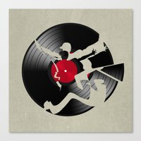 music Canvas Prints featuring music  by mark ashkenazi
