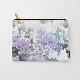 Watercolor Floral Lavender Teal Gray Carry-All Pouch