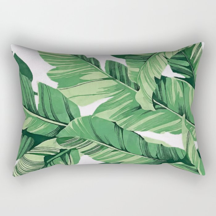 Tropical banana leaves V Rectangular Pillow