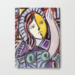 Portrait of a cubist girl Metal Print