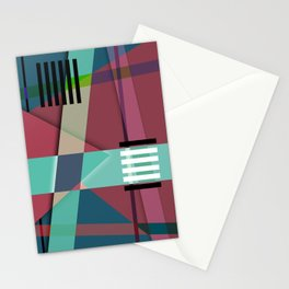 Abstract #410 Stationery Cards