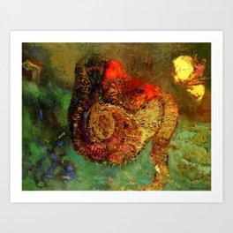 """Odilon Redon """"Perseus and Andromeda"""" Art Print"""