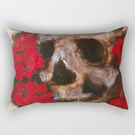 Skull and red roses Rectangular Pillow