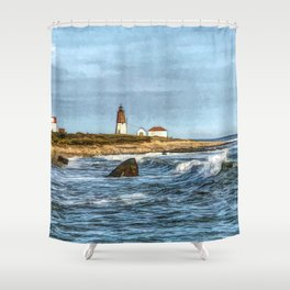 Soothing Ocean Sounds and Sights Shower Curtain