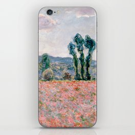 Poppy Field in Giverny by Claude Monet iPhone Skin