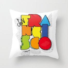 California San Francisco Throw Pillow