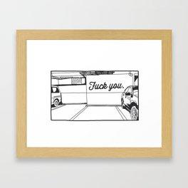 Angry Lot Framed Art Print