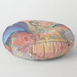 Good Night Angel Floor Pillow