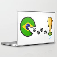 world cup Laptop & iPad Skins featuring Brazil World Cup 2014 by onejyoo