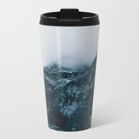 Cloud Mountain - Landscape Photography Metal Travel Mug