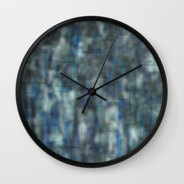 Abstract blue bluring pattern Wall Clock