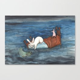 Bed as a Boat Canvas Print