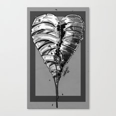 Razor Blade Romance (Black and White Version) Canvas Print